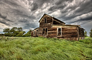 Abandoned Digital Art - Abandoned Farm Buildings Saskatchewan by Mark Duffy