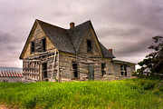 Ramshackle Framed Prints - Abandoned Farm House Framed Print by Matt Dobson
