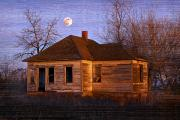 Haunted Houses Photo Prints - Abandoned Farm House Print by Richard Wear