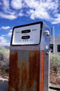 Landscape Prints Framed Prints - Abandoned Gas Pump Framed Print by Kathy Yates