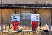 Not In Use Photo Metal Prints - Abandoned Gas Pumps and Station Metal Print by Dave & Les Jacobs