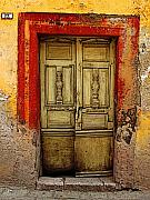 San Miguel Photos - Abandoned Green Door 1 by Olden Mexico