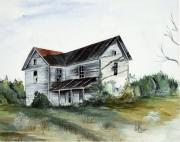 Abandoned House Drawings Prints - Abandoned Home Print by Robin Martin Parrish