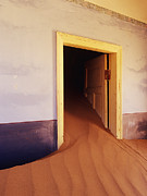 Abandoned Houses Posters - Abandoned House Filled with Drifting Sand Poster by Jeremy Woodhouse