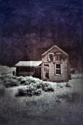 Run Down Shack Prints - Abandoned House in Infrared Print by Jill Battaglia