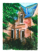 Abandoned House Drawings Prints - Abandoned House Print by Jonathan Baldock