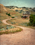 Haunted House Posters - Abandoned House on Dirt Road Poster by Jill Battaglia