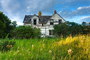 Abandoned Houses Prints - Abandoned House on the Prairies Print by Matt Dobson