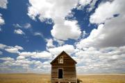 Abandoned Houses Prints - Abandoned House, Saskatchewan Print by Robert Postma