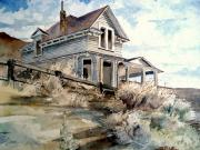Abandoned Houses Painting Posters - Abandoned house Poster by Steven Holder