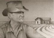 Farmer Drawings - Abandoned by Jim Ford