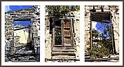 Sicily Digital Art Posters - Abandoned Neighbors in Sicily Poster by Linda  Parker