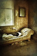 Divan Framed Prints - Abandoned Parlor Framed Print by Jill Battaglia