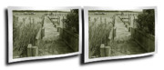Crossview Framed Prints - Abandoned Pier - Gently cross your eyes and focus on the middle image Framed Print by Brian Wallace