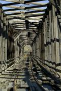 Narrow Perspective Framed Prints - Abandoned Railroad Bridge Framed Print by Pete Ryan