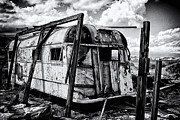 Salton Sea Prints - Abandoned Print by Ron Regalado