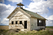 Abandoned School Prints - Abandoned Rural School House Print by Paul Edmondson