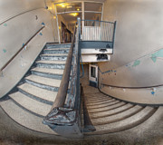 Basement Prints - Abandoned school stairwell Print by Tom Biegalski