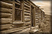 Cabin Window Prints - Abandoned Print by Shane Bechler