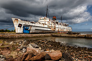 Passenger Ferry Prints - Abandoned Ship Print by Adrian Evans