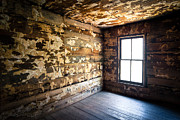 Haunted House Photos - Abandoned Smoky Mountains Farm House - The Window by Dave Allen