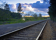 Rail Line Prints - Abandoned Tracks Print by Idaho Scenic Images Linda Lantzy