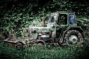 Machine Framed Prints - Abandoned Tractor Framed Print by Gert Lavsen