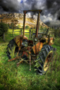 Tractor Photos - Abandoned Tractor by Meirion Matthias