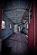 Train Car Prints - Abandoned Train Print by Merrick Imagery