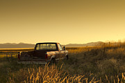 Grand Memories Posters - Abandoned Truck In Rural Area Poster by Picturegarden