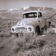 Snow Capped Framed Prints - Abandoned Truck Framed Print by Janeen Wassink Searles