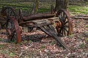 Spokes Metal Prints - Abandoned Wagon Metal Print by Tom Mc Nemar