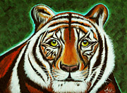 Tigers Paintings - Abbagail by Adele Moscaritolo