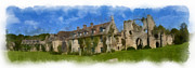 France Doors Digital Art Framed Prints - Abbaye du Vaux de Cernay 1 Framed Print by Wessel Woortman