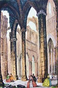 Church Prints Paintings - Abbey Church of St Bertin by Mary Ellsworth