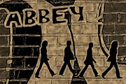 Abbey Road Mixed Media Prints - Abbey Print by Lauranns Etab