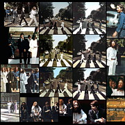 The Beatles Photo Metal Prints - Abbey Road Photo Shoot Metal Print by Paul Van Scott