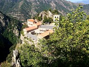 Mountain View Photos - Abbey St Martin du Canigou France by Marilyn Dunlap