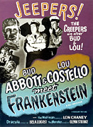 Horror Movies Posters - Abbott And Costello Meet Frankenstein Poster by Everett