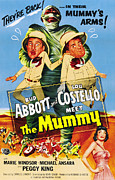1950s Poster Art Photo Metal Prints - Abbott And Costello Meet The Mummy Aka Metal Print by Everett