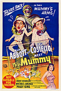 1950s Movies Prints - Abbott And Costello Meet The Mummy Print by Everett