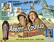 1950s Poster Art Framed Prints - Abbott And Costello Meet The Mummy, Lou Framed Print by Everett