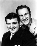 Abbott Posters - Abbott And Costello, Portrait Poster by Everett