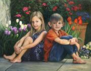 Abby And Luke Print by Anna Bain