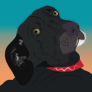 Black Lab Digital Art - Abby by Cheryl Snyder