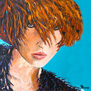 Hairstyle Paintings - Abby by Richard T Pranke