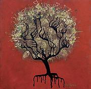 Drips Prints - ABC Tree Print by Kelly Jade King