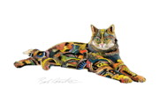 Felines Tapestries Textiles - Abe by Bob Coonts