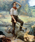Abraham Lincoln Art - Abe Lincoln The Rail Splitter  by War Is Hell Store