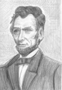 President Lincoln Drawings - Abe Lincoln by Will Stevenson